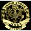 NASA PIN DRYDEN GOLD CUTOUT LARGE OVERSIZE PIN