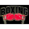 BOXING PIN BOXING GLOVES PIN WITH SCRIPT