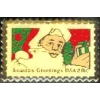 CHRISTMAS SEASONS GREETINGS SANTA CLAUS STAMP PIN