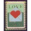 LOVE HEART WITH ENVELOPE STAMP PIN