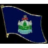 MAINE PIN STATE FLAG PIN