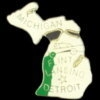 MICHIGAN PIN STATE SHAPE MI PIN