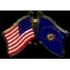 CONCH REPUBLIC KEY WEST FLORIDA FLAG US COMBO FLAG PIN DX