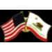CALIFORNIA PIN STATE FLAG USA FRIENDSHIP FLAGS PIN