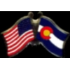 COLORADO PIN STATE FLAG USA FRIENDSHIP FLAGS PIN