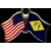 DELAWARE PIN STATE FLAG USA FRIENDSHIP FLAGS PIN