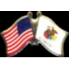 ILLINOIS PIN STATE FLAG USA FRIENDSHIP FLAGS PIN