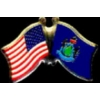 MAINE PIN STATE FLAG USA FRIENDSHIP FLAGS PIN