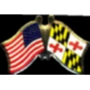 MARYLAND PIN STATE FLAG USA FRIENDSHIP FLAGS PIN