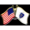 MASSACHUSETTS PIN STATE FLAG USA FRIENDSHIP FLAGS PIN