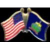 VERMONT PIN STATE FLAG USA FRIENDSHIP FLAGS PIN