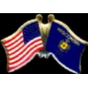 WISCONSIN PIN STATE FLAG USA FRIENDSHIP FLAGS PIN