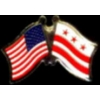 WASHINGTON DC FLAG USA FRIENDSHIP FLAGS PIN