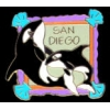 CITY OF SAN DIEGO, CA SEA WORLD KILLER WHALES PIN