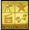 HOLLYWOOD GOLD SQUARE PIN