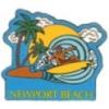 CITY OF NEWPORT BEACH, CA SURFER BEACH SCENE PIN