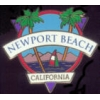 CITY OF NEWPORT BEACH, CA PALM TREES AND SAILBOAT SCENE PIN
