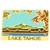 LAKE TAHOE MOUNTAIN LAKE SCENE GLITTER HAT, LAPEL PIN