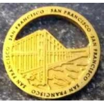CITY OF SAN FRANCISCO, CA GOLDEN GATE BRIDGE CUTOUT GOLD PIN