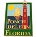 PONCE DE LEON LIGHTHOUSE, FLORIDA FL PIN HAT, LAPEL PIN