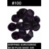 PIN BACKS BLACK RUBBER #100 COUNT PLASTIC CLUTCHES TACK BACKS