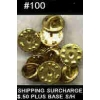 PIN BACKS MILITARY BUTTERFLY GOLD #100 COUNT METAL CLUTCHES TACK BACKS