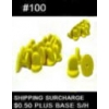 PIN BACKS YELLOW RUBBER #100 COUNT PLASTIC CLUTCHES TACK BACKS