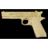 COLT 45 PISTOL 1911 TYPE GOLD HANDGUN PIN