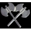DOUBLE BLADED WAR BATTLE AXES PIN